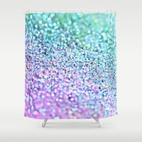 little mermaid Shower Curtains featuring Little Mermaid by Monika Strigel
