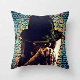 Cool hat Throw Pillow