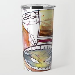 Coffee Face 05 Travel Mug