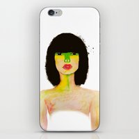 charmaine olivia iPhone & iPod Skins featuring Olivia by mzscreations