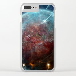 Planet Attack Clear iPhone Case
