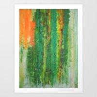 bamboo - Original Painting by carina schubert Art Print