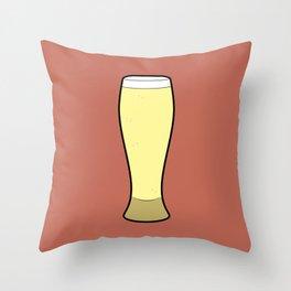 Beer Glasses (Weizen) Throw Pillow