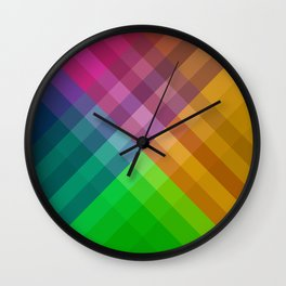 Rainbow colors 1 Wall Clock