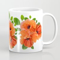 poppies Mugs featuring Poppies by Heaven7