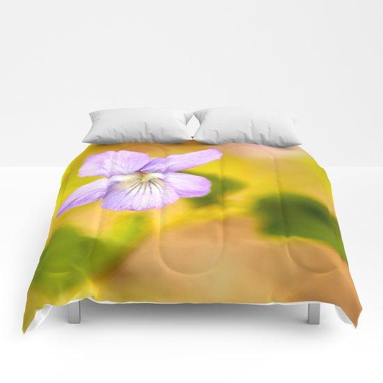 Wild Pansy  Comforters
