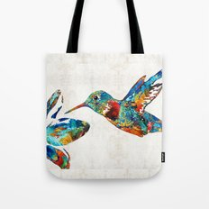 Colorful Hummingbird Art by Sharon Cummings Tote Bag