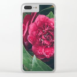Spring rains Clear iPhone Case