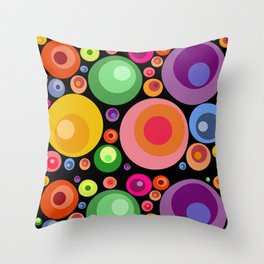 Circles psychedelia Throw Pillow