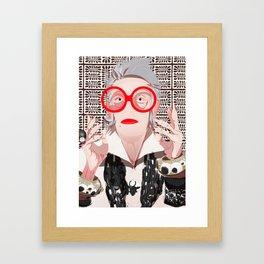 Iris: neutral Framed Art Print