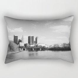 Columbus Ohio 1 - B&W Rectangular Pillow
