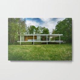Farnsworth House Metal Print
