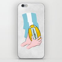 argentina iPhone & iPod Skins featuring Argentina Rugby by mailboxdisco