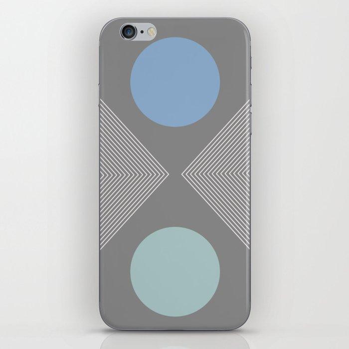 Earth And Moon - Mid-Century Minimalist iPhone Skin