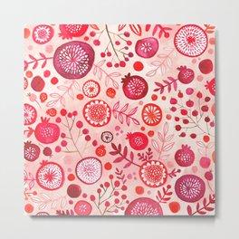 Berries (poisonous berries print) Metal Print