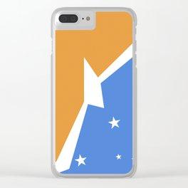 Tierra del Fuego Argentina flag Clear iPhone Case