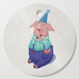 Piglet eating candy. Cutting Board