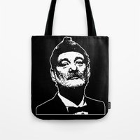 bill murray Tote Bags featuring Bill Murray Special Edition  by Spyck