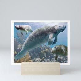 three seacows Mini Art Print