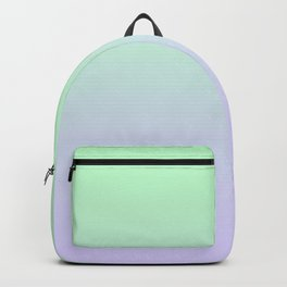 Mint Green to Pale Violet Linear Gradient Backpack