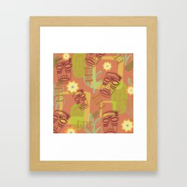 Happy Hour At The Tiki Room Framed Art Print