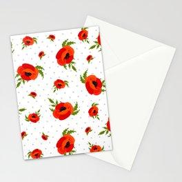 Poppy Flowers Pattern Stationery Cards