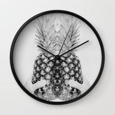 Pineapple Daze Wall Clock