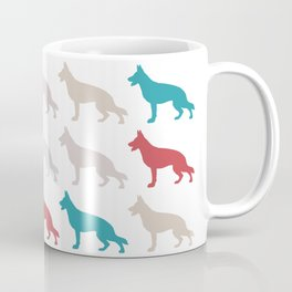 german sheppard | pattern Coffee Mug