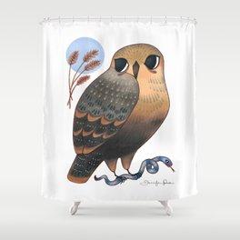 Hawk & Snake Shower Curtain