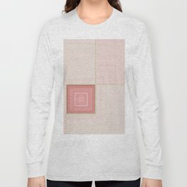 Pastel Pinks and Mints Pattern Design Long Sleeve T-shirt