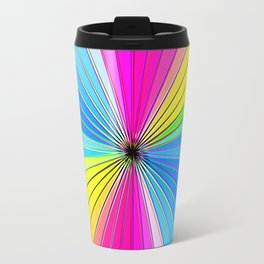 Color Burst II (Blue // Yellow) Travel Mug