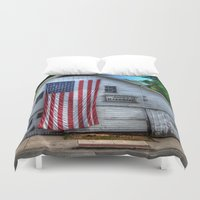 phil jones Duvet Covers featuring Jones Hardware by Liz Swezey