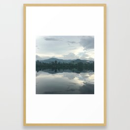when you float in the moment Framed Art Print