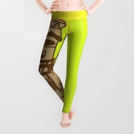 Hippie Island Tiki Dude Leggings