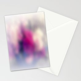 Summer morning. Abstract blurred pattern Stationery Cards