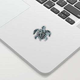 Sea Turtle - Turquoise Ocean Waves Sticker