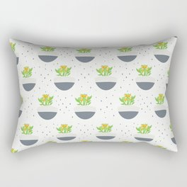 Potted Kalanchoe Plant Mom Pattern Rectangular Pillow