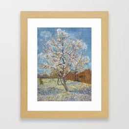 Peach Trees in Blossom by Vincent van Gogh Framed Art Print