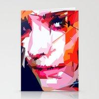 emma watson Stationery Cards featuring Emma Watson Vector by Raditya Giga