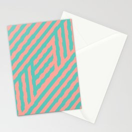 Retrocamp, Pink and Mint Stationery Cards
