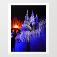 spires Art Prints featuring Blue Spires by Dragons Laire