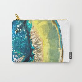 Blue and Yellow Agate Carry-All Pouch