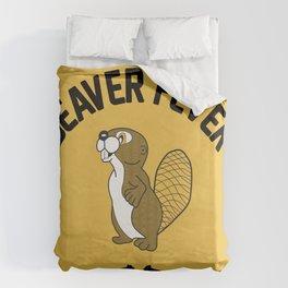 Beaver Fever - Black and White Duvet Cover
