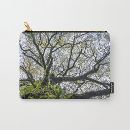 Centenary oak with the trunk covered in moss and green plants Carry-All Pouch
