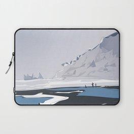 Vik Reynisfjara Black Sand Beach, Iceland Travel Poster Laptop Sleeve