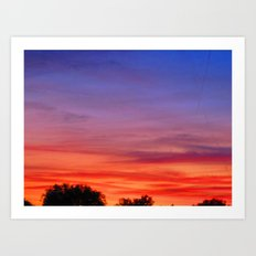 The Skies are on fire Art Print