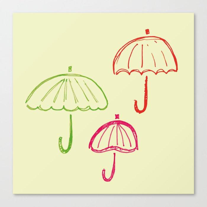 Happy Umbrella Canvas Print