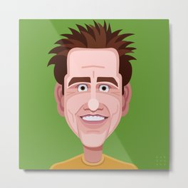 Comics of Comedy: Jim Carrey Metal Print