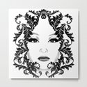 Black and white floral face ornament by brittaglodde