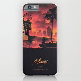 HOTLINE MIAMI 2018 PINK/ORANGE iPhone Case